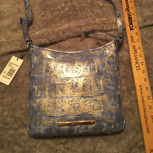 NWT Blue and Gold Brahmin Crossbody